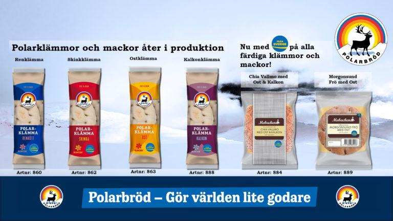 Polarbröds färdiga smörgåsar